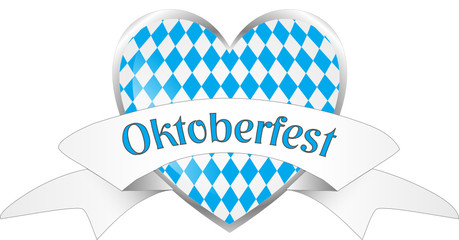Oktoberfest Herz Banderole