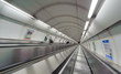 subway escalator with motion blur - 56208484