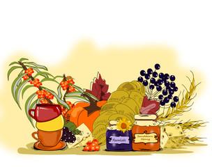 Gesundes Frühstück, Illustration