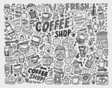 Fototapety doodle coffee element background