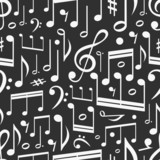 Seamless background of music notes