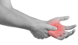 Pain in a man palm.