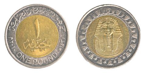 one Egyptian pound coin