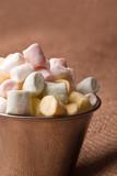 colorfull mini marshmallow in a tiny bowel poster