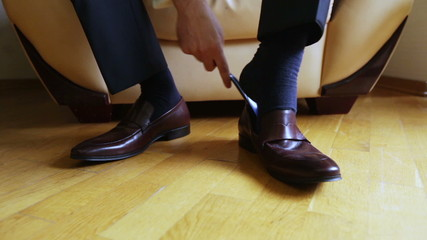 Dress brown shoes
