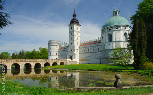 Krasiczyn castle in Eastern part of Poland