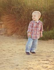 playful toddler boy