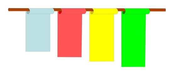 Rotoli stesi - decorazioni compilabili - stendardi