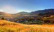 Rural scene in Slovakia Tatras - village Zuberec