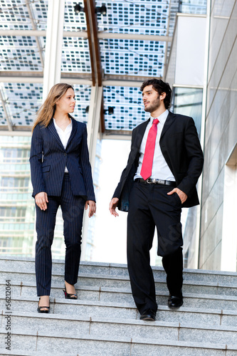 Couple of businesspeople outdoor