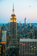 New York City paysage urbain dans la nuit
