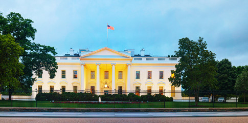 The White House building in Washington, DC
