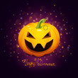Vector Halloween Design with Scary Pumpkin