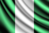 Waving flag of Nigeria, vector