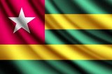Waving flag of Togo, vector
