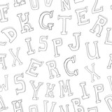 Letters seamless pattern