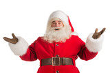 Happy Christmas Santa Claus with a welcome gesture
