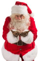 Portrait of Santa Claus sending an Air Kiss