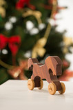Vintage Wooden Horse on Santa's work table