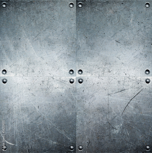canvas print picture Metal background