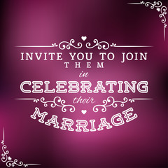 Wedding Invitation Label