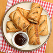 Sausage Rolls with Brown Sauce Dip