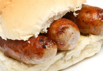 Sausages in Bread Roll or Bap