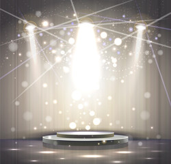 spotlight effect gray scene background