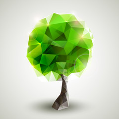 Green tree formed by triangles