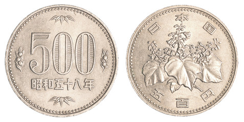 500 japanese yens coin