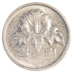 one south korean won coin