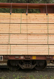 Lumber Loaded Railroad Car Transportation Boxcar Lumber