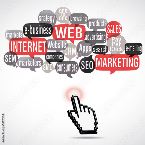 word cloud : web marketing  (square)