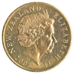2 New Zealand dollar coin