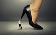 man under big heel