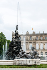 Fountain figures in front of castle Herrenchiemsee