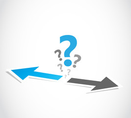 Decision business arrow