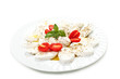 Closeup of Caprese Salad