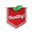 Healthy food label or ribbon
