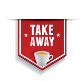 Coffee - Take away sticker label