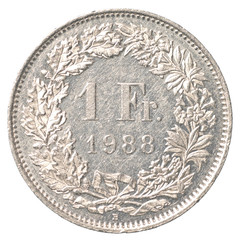 1 Swiss Francs coin