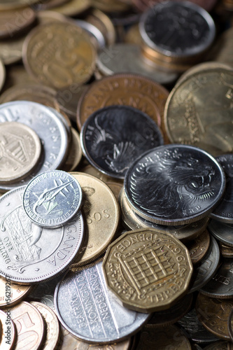 Various coins background