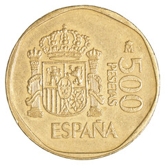 500 spanish pesetas coin