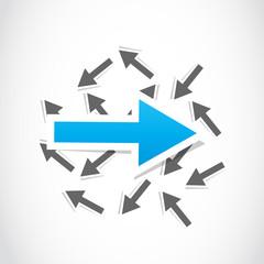 vector decision, choice arrow