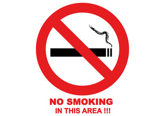 NO SMOKING_Red