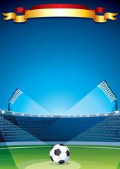 Soccer Stadium Background. Design Template