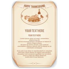 Retro Style Thanksgiving Background