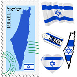 national colours of Israel
