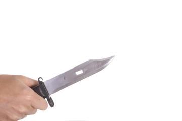 hand holding knife