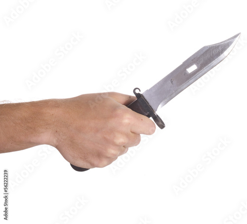 hand holding knife